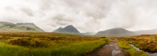 Looking back to Glen Coe