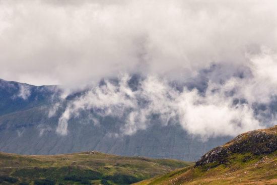 Meall Mòr, Glas Bheinn & Beinn a' Ghreachain, shrouded in clouds