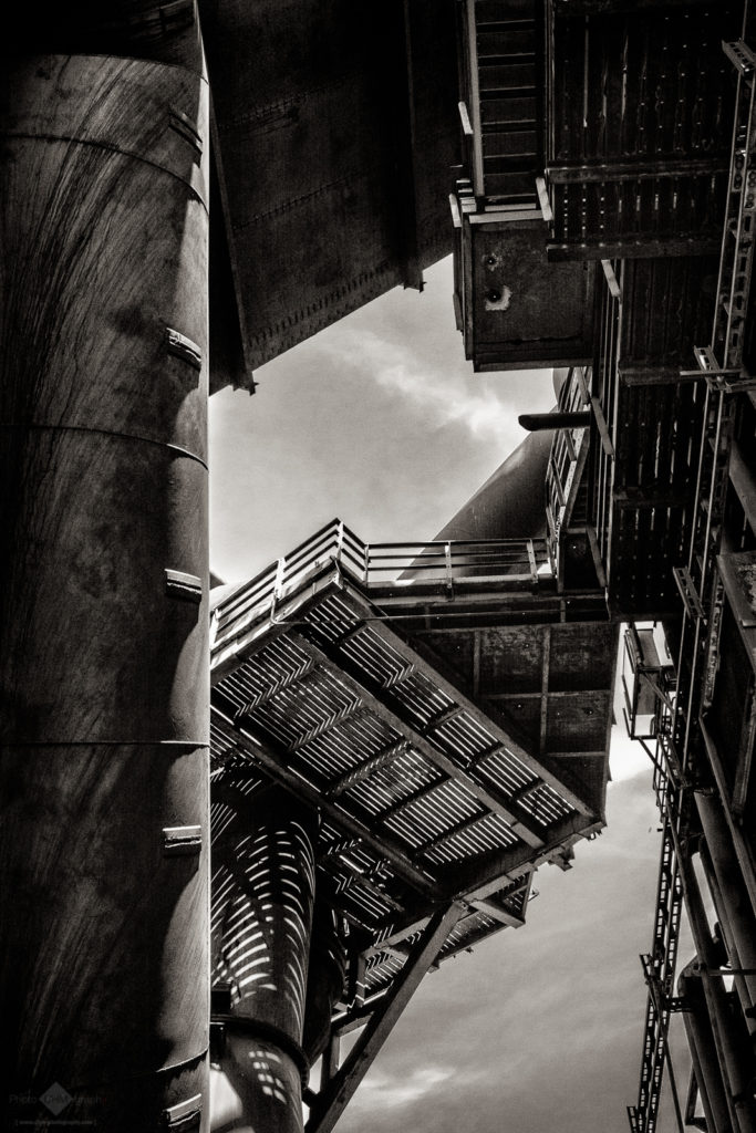 Old Steel Mill  (Monochrome Version)