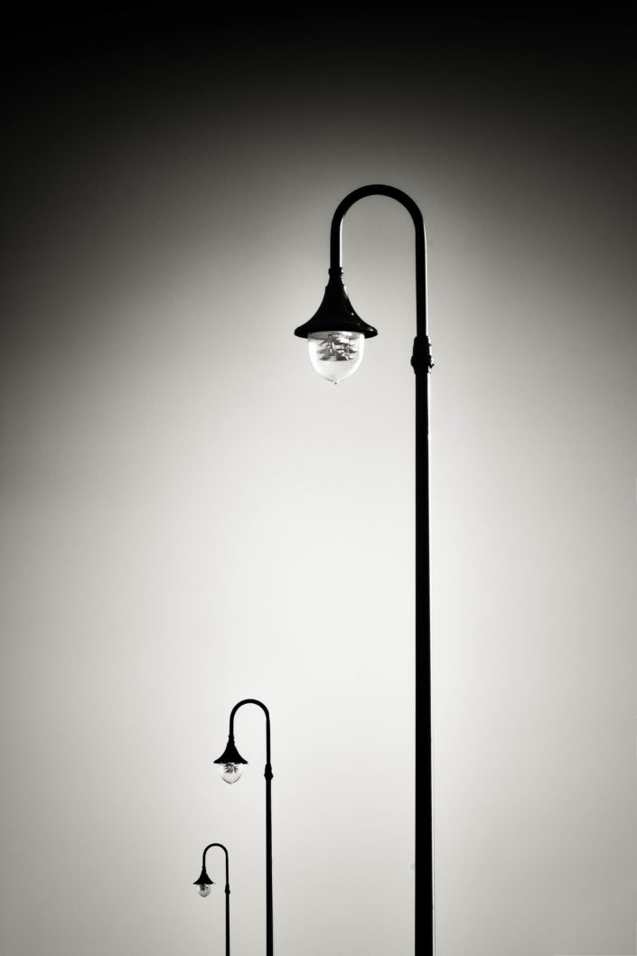 Three Street Lamps